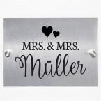 Hausnummernschild Mrs. & Mrs.