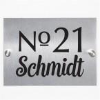 Hausnummernschild Number