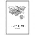 Amsterdam Stadtposter Straßennetz