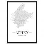 Poster Athen mit Bilderrahmen