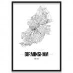 Poster Birmingham mit Rahmen