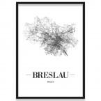 Poster Brüssel Straßennetz mit Bilderrahmen