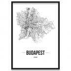Poster Budapest Rahmen mit Bilderrahmen