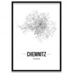 Poster Chemnitz Rahmen