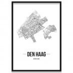 Poster Den Haag Straßennetz
