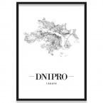 Poster Dnipro mit Bilderrahmen