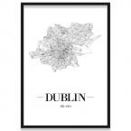 Poster Dublin mit Bilderrahmen