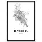 Poster Düsseldorf Stadtplan