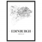 Poster Edinburgh mit Rahmen