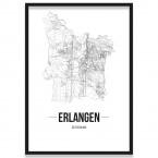 Stadtposter Erlangen mit Bilderrahmen