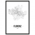 Poster Florenz Straßennetz Bilderrahmen
