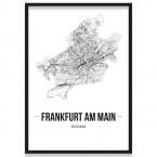 Poster Frankfurt am Main Straßenplanung Rahmen