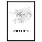 Poster Heidelberg mit Bilderrahmen