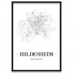 Stadtposter Hildesheim Straßenplan