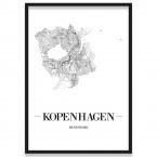Poster Kopenhagen Straßenplan