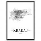 Poster Krakau mit Bilderrahmen