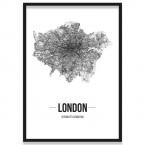 Poster London Straßenplan