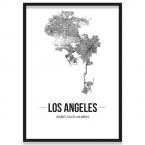 Poster Los Angeles mit Bilderrahmen