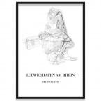 Poster Ludwigshafen am Rhein Bilderrahmen