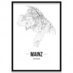 Poster Mainz mit Bilderrahmen