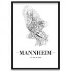 Stadtposter Marseille Stadtplan Rahmen