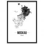 Stadtposter Moskau Bilderrahmen