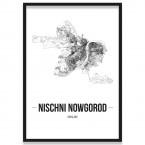 Stadtposter Nischni Nowgorod Bilderrahmen