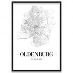 Stadtposter Oldenburg Bilderrahmen
