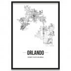 Stadtposter Orlando Rahmen
