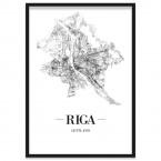 Stadtposter Riga Rahmen