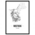 Stadtposter Rostock Stadtplan