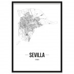 Stadtposter Sevilla Bilderrahmen