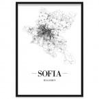 Stadtposter Sofia mit Bilderrahmen