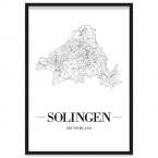 Stadtposter Solingen mit Bilderrahmen