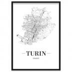 Stadt Turin gerahmtes Poster