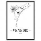 Stadtposter Venedig gerahmt