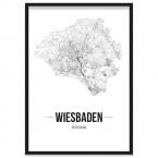 Stadtposter Wiesbaden gerahmt