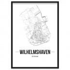 Stadtposter Wilhelmshaven Rahmen