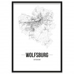 Wolfsburg Poster gerahmt