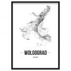 Stadt Wolgograd Poster mit Rahmen