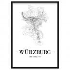 Poster Würzburg im Bilderrahmen