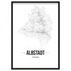 Albstadt Poster Stadt Bilderrahmen