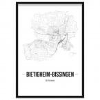 Stadtposter Bietigheim-Bissingen Stadtplan gerahmt