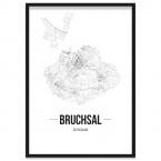 Stadtposter Bruchsal gerahmt