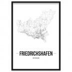Stadtposter Friedrichshafen Bilderrahmen