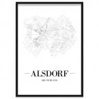 Stadtposter Alsdorf Rahmen