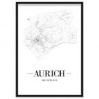 Stadtposter Aurich Rahmen