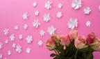 Wandtattoo 3D - Blumen weiß