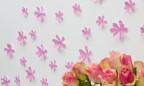 Wandtattoo 3D - Blumen rosa