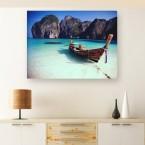 Leinwandbild - Malediven - Gondel - Bucht - Heavenly Bay